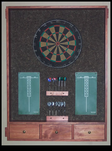 custom dartboard cabinet