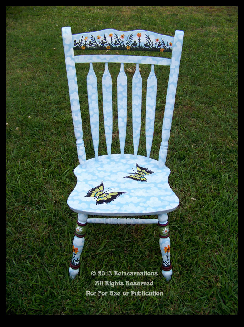 butterfly garden colonial chair