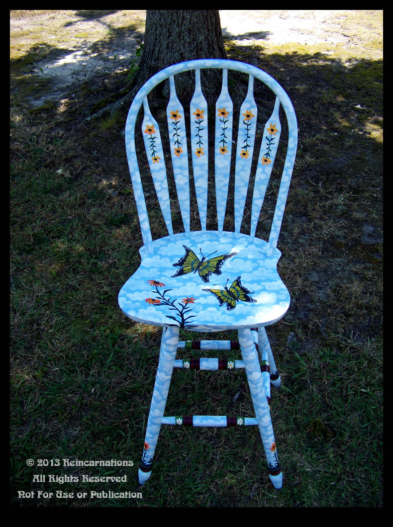 butterfly garden bar stool full view