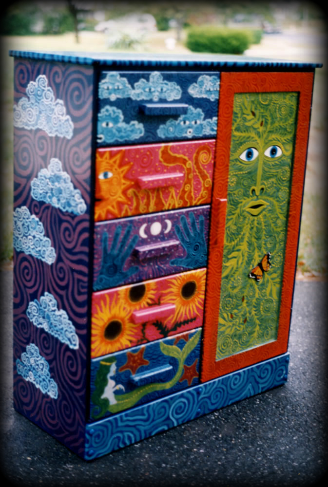 custom armoires for hand painted furniture
