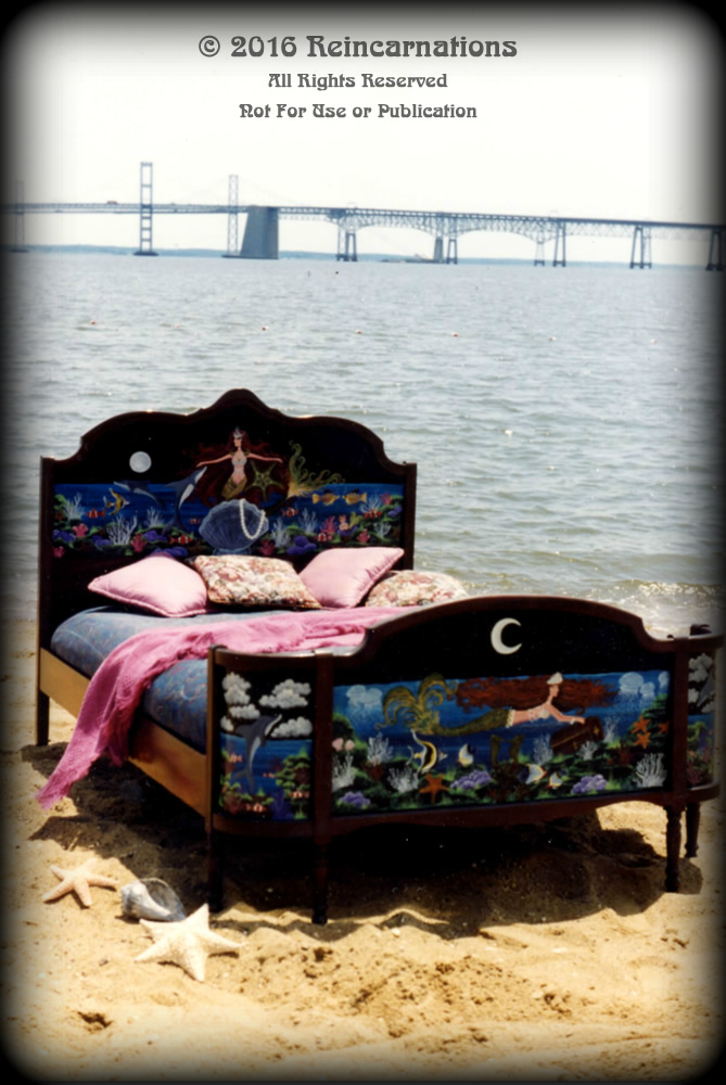 mermaids garden bed hand painted furniture