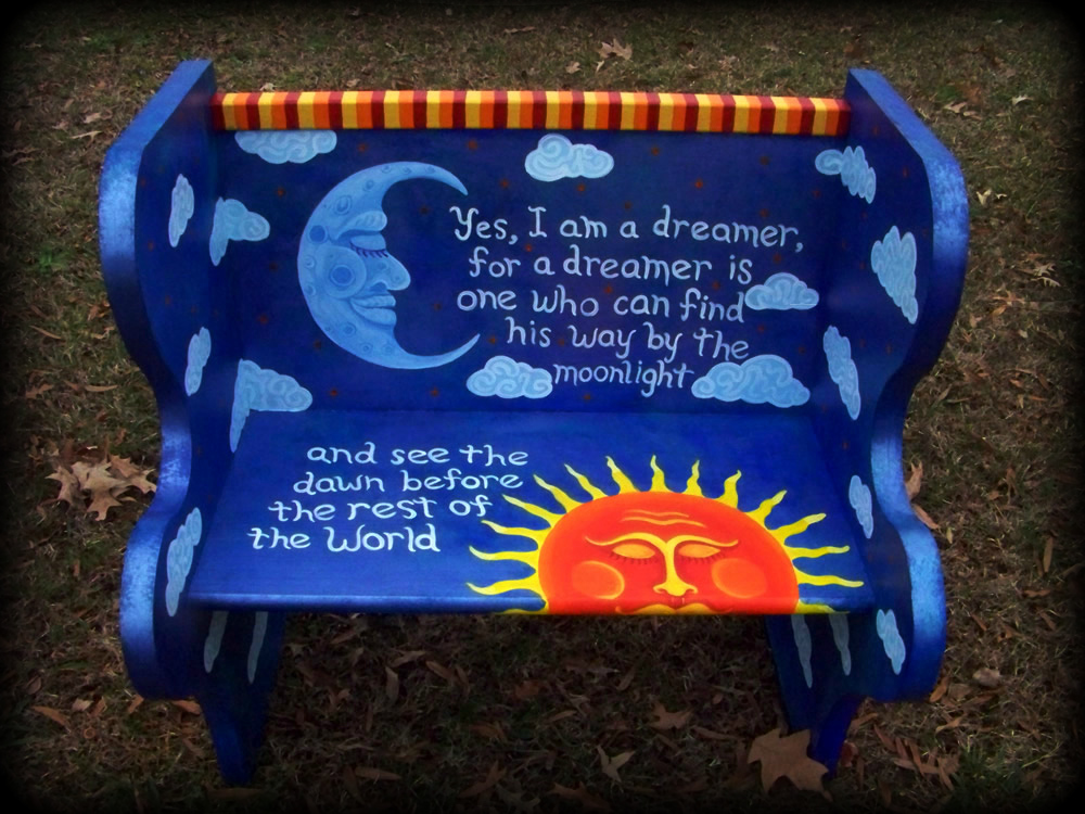 Dreamer's Moon Bench Front View