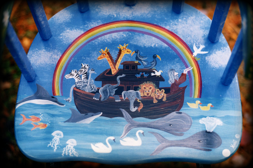 Noah's Ark theme for hand painted furniture