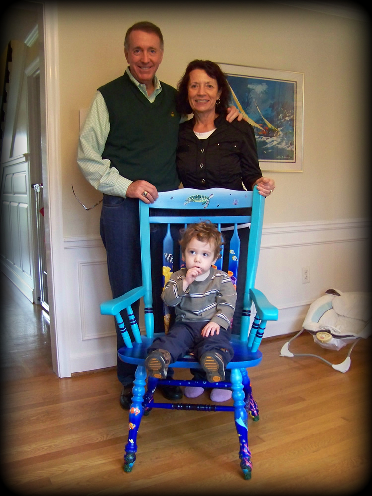 Tropical Reef Chair Delivered