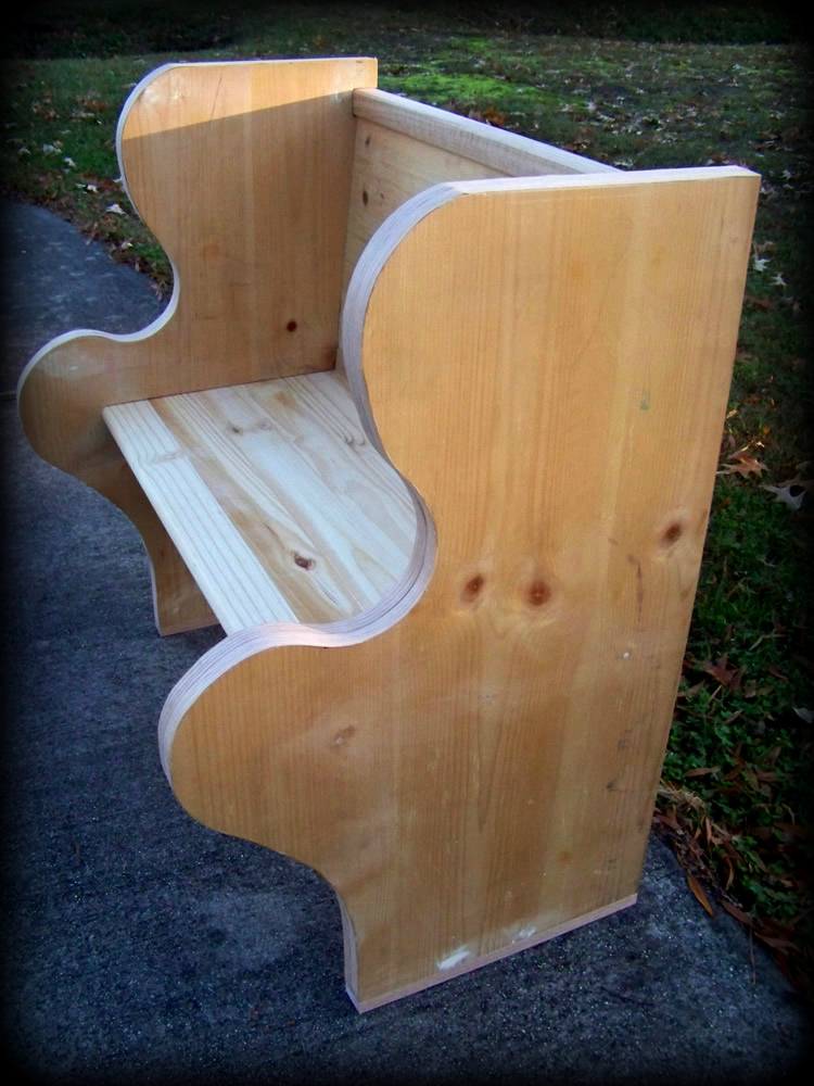 Custom Bench 1 Right Side View`