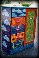Elements armoire - hand painted furniture