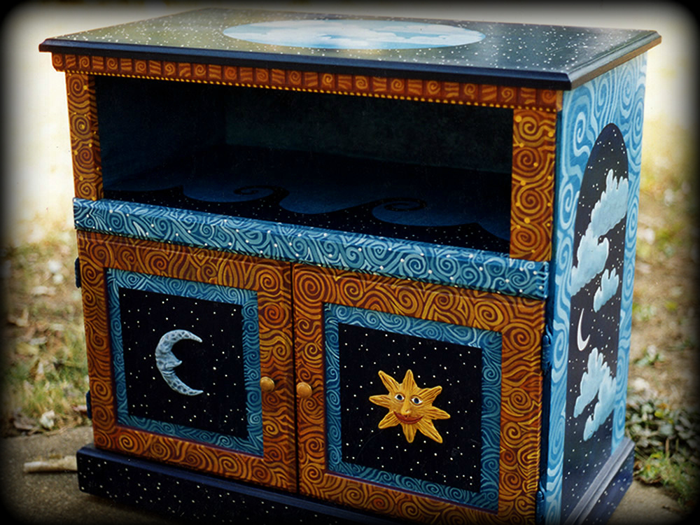 server painted with celestial signs theme