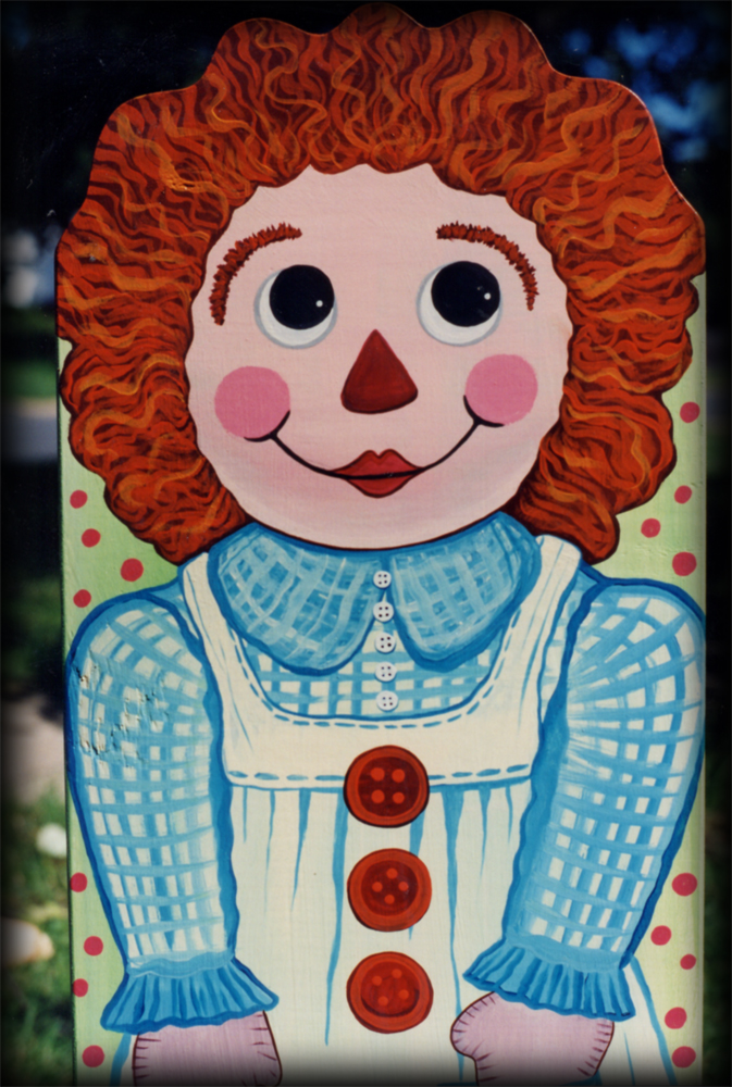 Girl Rag Doll Theme - hand painted childrens furniture